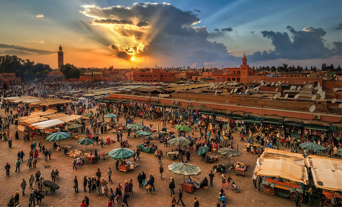 Marrakesh market square